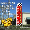 FOREIGN CAR SPECIALISTS (Red/Checkered) Flutter Feather Banner Flag Kit (Flag, Pole, & Ground Mt)
