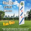 Fort 2 Race (White/Blue) Econo Feather Banner Flag