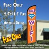 FREE WIFI Windless Feather Banner Flag (2.5 x 11.5 Feet)