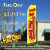FRESH HOT DOGS (Yellow) Flutter Feather Banner Flag (11.5 x 2.5 Feet)