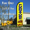 FURNITURE SALE (Yellow) Flutter Feather Banner Flag (11.5 x 3 Feet)