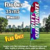 Gift Certificate (Blue/Bows) Econo Feather Banner Flag