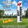 Gift Certificate (White/Black) Econo Feather Banner Flag
