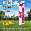 Gift Certificate (White/Pink) Econo Feather Banner Flag