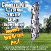 Winter Camo Gray white windless Feather Banner Flag Kit (Flag, Pole, & Ground Mt)