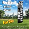 Group Classes Women Fitness (Gray/White) Econo Feather Flag