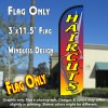 HairCuts Windless Polyknit Feather Flag (3 x 11.5 feet)