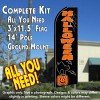 HALLOWEEN (Cat) Flutter Feather Banner Flag Kit (Flag, Pole, & Ground Mt)