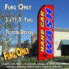 HAND CAR WASH (Red) Flutter Feather Banner Flag (11.5 x 3 Feet)