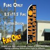 HAPPY HALLOWEEN (Black) Flutter Feather Banner Flag (11.5 x 2.5 Feet)