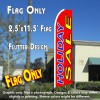 HOLIDAY SALE (Red) Flutter Feather Banner Flag (11.5 x 2.5 Feet)