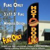 Hot Dogs (Black/Yellow) Windless Polyknit Feather Flag (3 x 11.5 feet)