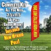 New York Style Hot Dogs windless  Feather Banner Flag Kit (Flag, Pole, & Ground Mt)