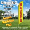 New York Style Hot Dogs Windless (Yellow/Red) Feather Banner Flag Kit (Flag, Pole, & Ground Mt)