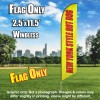 New York Style Hot Dogs Windless (Yellow/Red) Feather Banner Flag