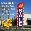 Hot Sale (Starburst) Windless Feather Banner Flag Kit (Flag, Pole, & Ground Mt)