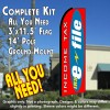 INCOME TAX E-FILE Flutter Feather Banner Flag Kit (Flag, Pole, & Ground Mt)