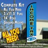 Income Tax e-file (Light Blue/White) Windless Feather Banner Flag Kit (Flag, Pole, & Ground Mt)