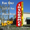 Insurance Auto, Home, Life (Red/Yellow) Windless Polyknit Feather Flag (3 x 11.5 feet)