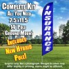 Insurance (Blue/White Letters) Feather Windless Flag Kit