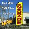 INSURANCE (Yellow/Red) Flutter Polyknit Feather Flag (11.5 x 2.5 feet)