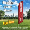 Keller Williams Open House burgundy white windless  Feather Banner Flag