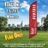 Keller Williams Rentals burgundy white windless  Feather Banner Flag