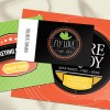 "1.75"" X 3.5"" 16PT Gloss Laminated Round Corner Business Cards"