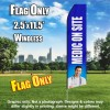Medic on Site (Blue/White) Econo Feather Banner Flag