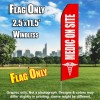 Medic on Site (Red/White) Econo Feather Banner Flag