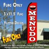 MENUDO (Red) Flutter Feather Banner Flag (11.5 x 3 Feet)