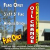 Oil Change (Oil Filter Lube) Windless Polyknit Feather Flag (3 x 11.5 feet)