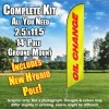 Oil Change (Yellow/Red) Windless Feather Banner Flag Kit (Flag, Pole, & Ground Mt)