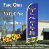 OIL & FILTER CHANGE (Blue/Yellow) Flutter Feather Banner Flag (11.5 x 3 Feet)