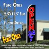 OPEN 24/7 (Black) Flutter Feather Banner Flag (11.5 x 2.5 Feet)