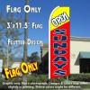 OPEN SUNDAYS (Yellow/Red) Flutter Feather Banner Flag (11.5 x 3 Feet)
