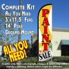 Paint Sale Windless Feather Banner Flag Kit (Flag, Pole, & Ground Mt)