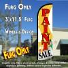 Paint Sale Windless Polyknit Feather Flag (3 x 11.5 feet)