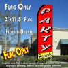 PARTY RENTALS (Red/Yellow) Flutter Feather Banner Flag (11.5 x 3 Feet)