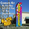 PARTY SUPPLIES (Balloons) Flutter Feather Banner Flag Kit (Flag, Pole, & Ground Mt)