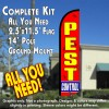 PEST CONTROL Windless Feather Banner Flag Kit (Flag, Pole, & Ground Mt)