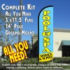 Pool & Spa (Service & Supply) Windless Feather Banner Flag Kit (Flag, Pole, & Ground Mt)