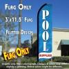 POOL SUPPLIES (Blue) Flutter Feather Banner Flag (11.5 x 3 Feet)