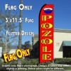 POZOLE (Red) Flutter Feather Banner Flag (11.5 x 3 Feet)