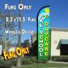 PRE-SCHOOL & DAYCARE Windless Polyknit Feather Flag (2.5 x 11.5 feet)