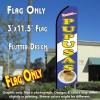 PUPUSAS (Blue/White) Flutter Feather Banner Flag (11.5 x 3 Feet)