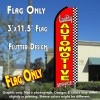 QUALITY AUTOMOTIVE SERVICE (Checkered) Flutter Feather Banner Flag (11.5 x 3 Feet)