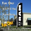 RAM (Dodge) Flutter Feather Banner Flag (11.5 x 2.5 Feet)