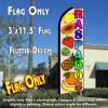 RASPADOS (Smoothies) Flutter Feather Banner Flag (11.5 x 3 Feet)