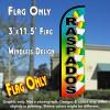 Raspados (Snow Cone) Windless Polyknit Feather Flag (3 x 11.5 feet)